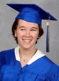 Meredith, the high school graduate.